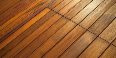 Background with a wooden floor in a house